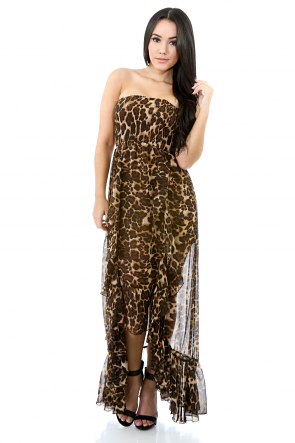 Eye of the Cheetah Maxi Dress