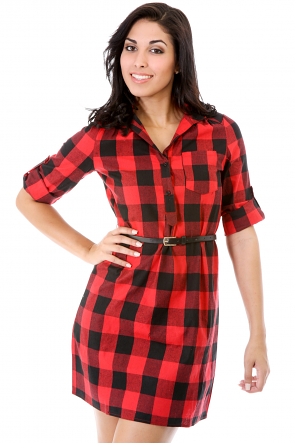 Checkerboard Breakout Dress