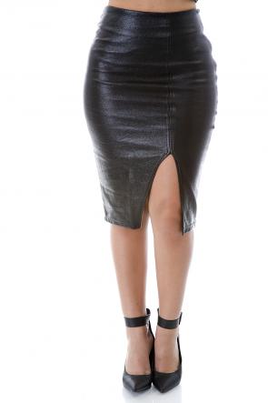 Leather Unite Skirt