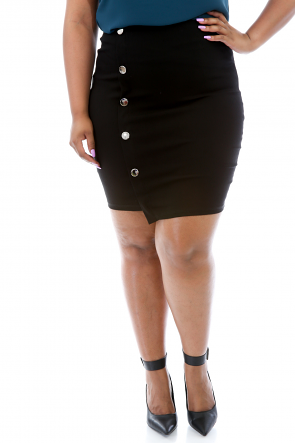 Smooth Banded Pencil Skirt