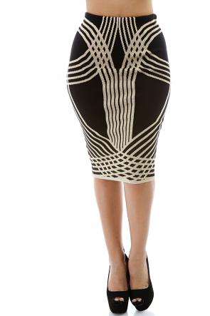 Woven Metallic Skirt