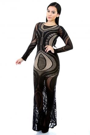 Spect Lace Ways Maxi Dress