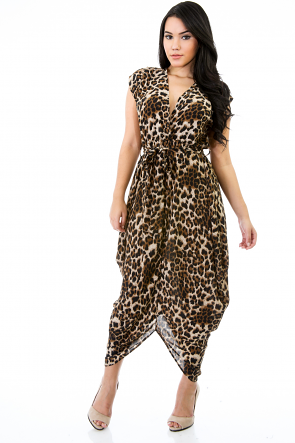 Leopard Steam in Town Dress