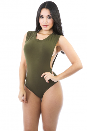 Simple Zip-up Bodysuit