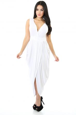 Rising Beauty Drape Dress