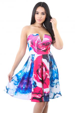 Rose Pedal Fuse Dress