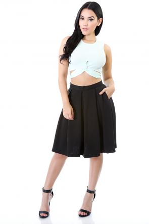 Plain Link Skirt