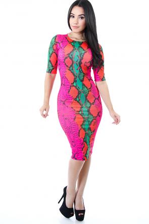 Snake Dye Dress