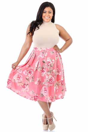 Flowers All Around Me Princess Skirt