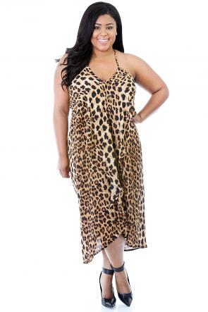 Leopard Fox Overlay Dress