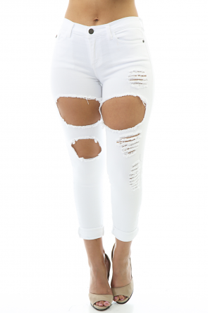 White Powder Pants