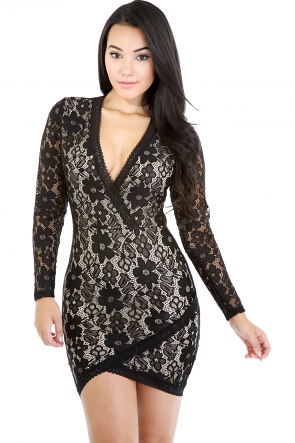 Eternal Lace Structure Dress