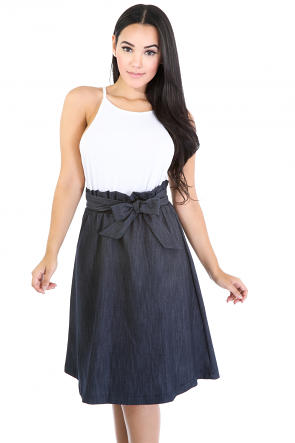 Premium Flare Denim Skirt
