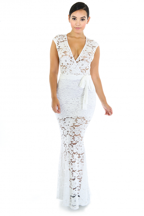 Lace Space Maxi Dress
