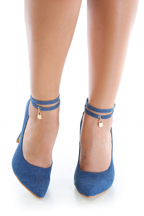 Jean Pointed Toe Ankle Strap Heels