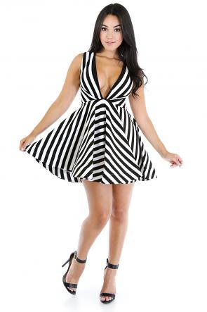 Striped Motive Dress