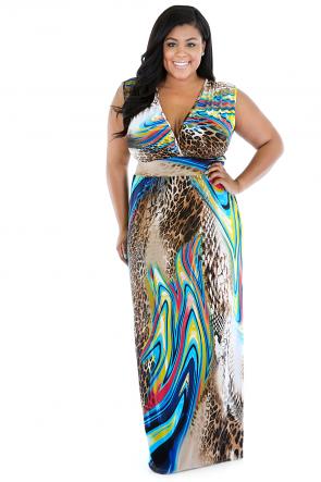 Jungle Mixture Maxi Dress