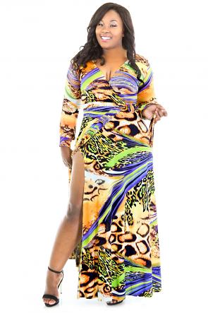 Wild Animal Print Maxi Dress