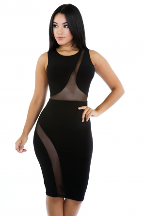 Swirl Mesh Dress