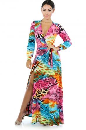Wild Animal Print Dress