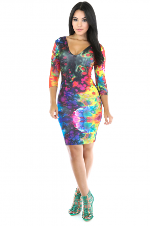 Rainbow Splash Dress