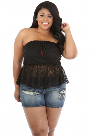 Show Stopper Strapless Top
