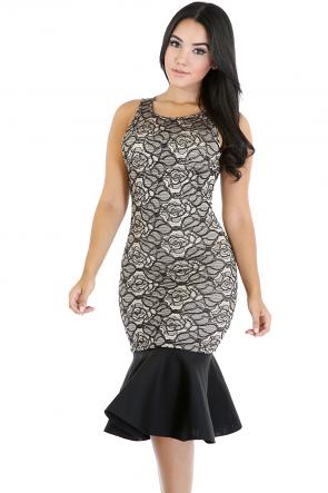 Fancy Rose Mermaid Dress
