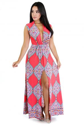 Sleeveless Persian Maxi Dress