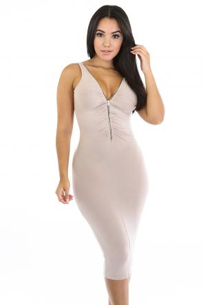 Smooth Zip Dress
