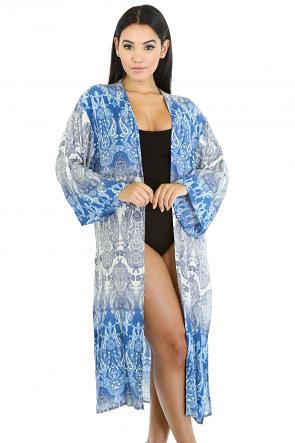 Ornate Pattern Kimono Top