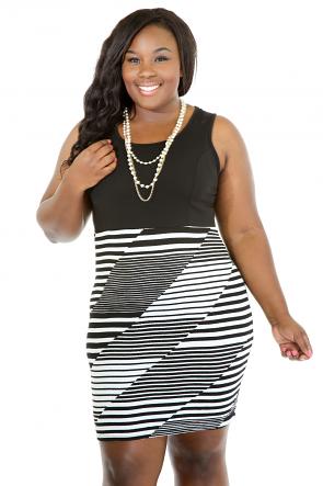 Striped Into Elegancy Dress