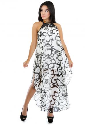 Paisley Chiffon Tunic Dress