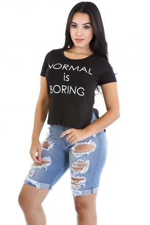 Normal is Boring Top