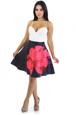 Rose Flare Skirt