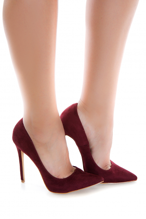 Chestnut Suede Pointy Toe Pump