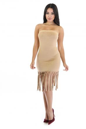 Suede Fringe Dress