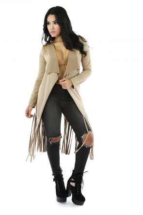 Western Trails Faux Suede Cape