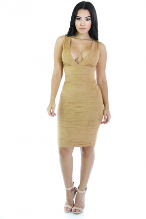 Suede Party Dress