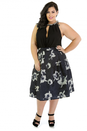 Romantic Floral A-Line Skirt