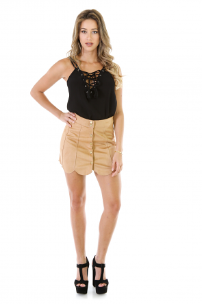 Made The List Faux Suede Skirt