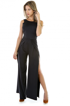 Smooth Transition Suede Jumpsuit
