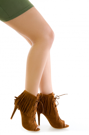 Fringe Open Toe Booties