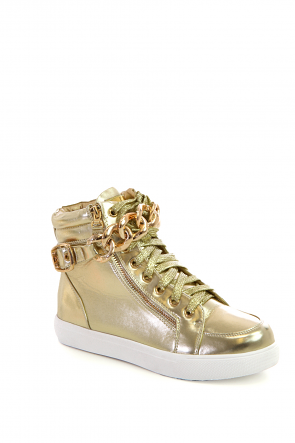 Zipper Chain High Top Sneaker