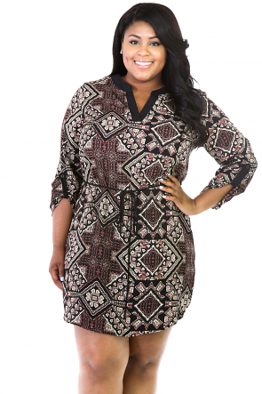 Boho Shapes Tunic Dress