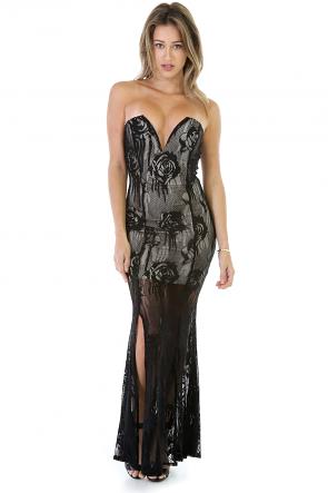 Rose Fall Maxi dress