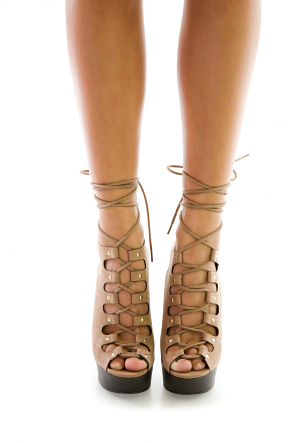 Lace Up Heel Broad Vogue Booties