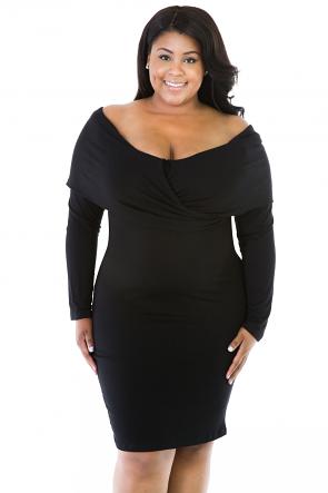 Shoulder Crush Dress