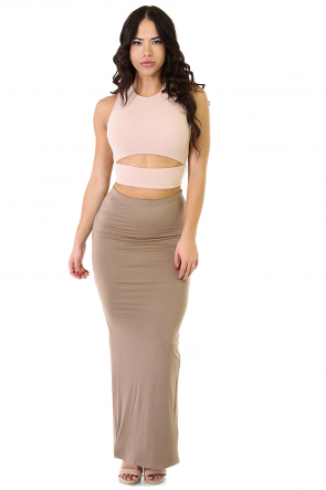 Slit Happens Midi Skirt