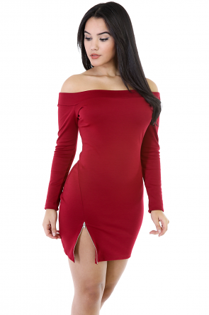 Side Zip Detail Dress