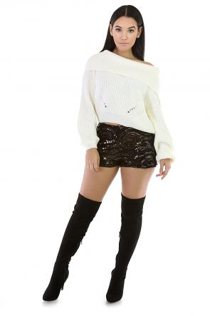 Paisley Sequins Shorts